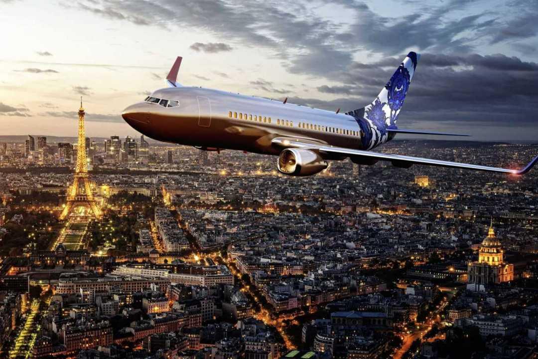 Custom Boeing 737 jet visualisation