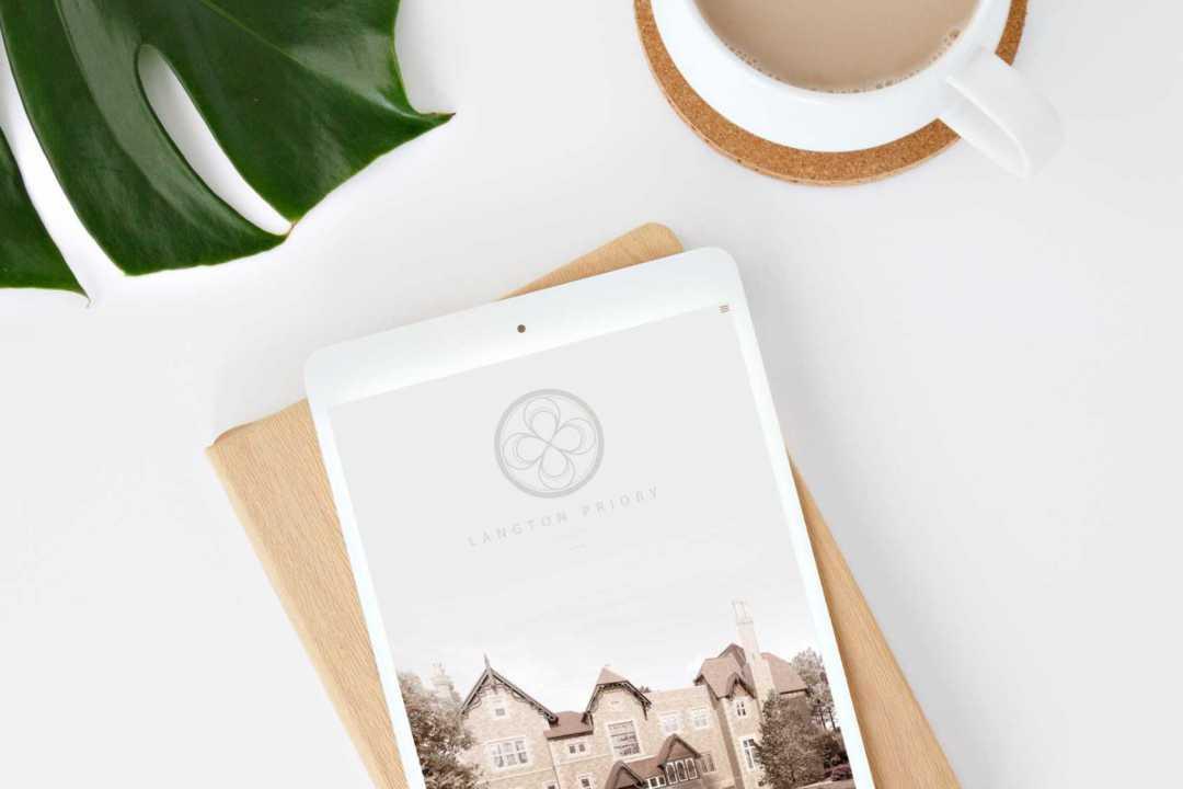 Branding and digital for Langton Priory