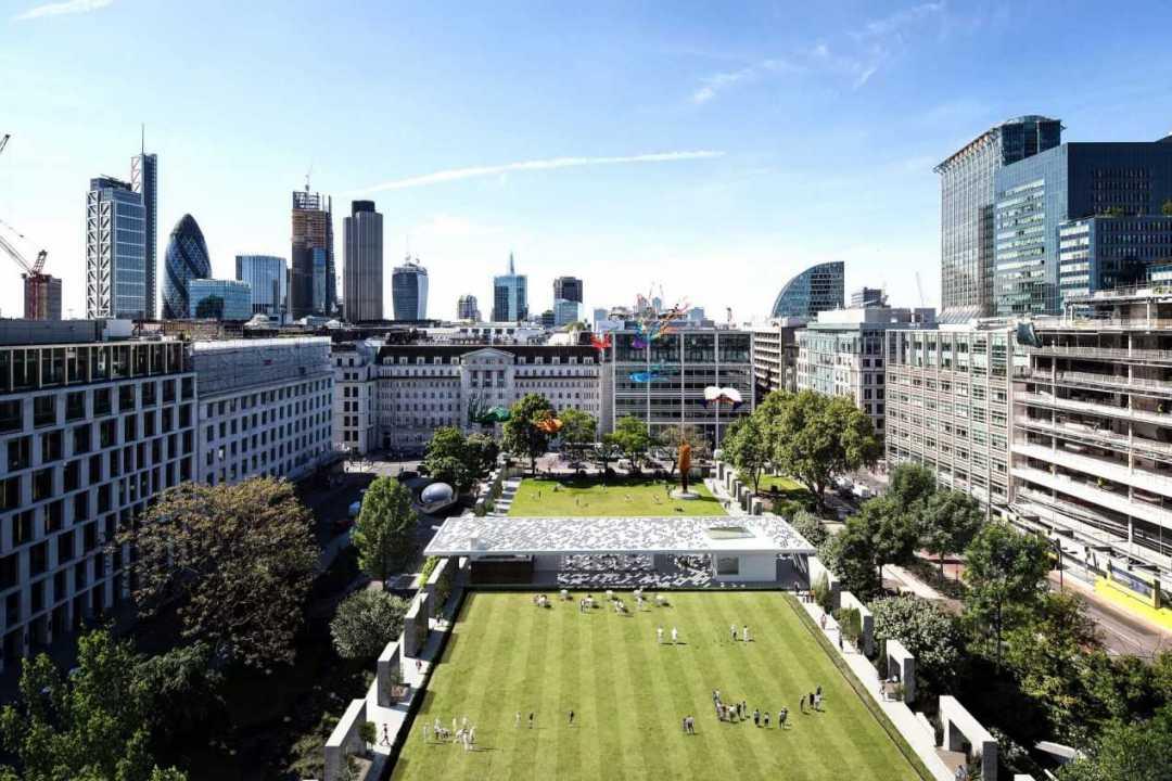 Finsbury Square aerial CGI