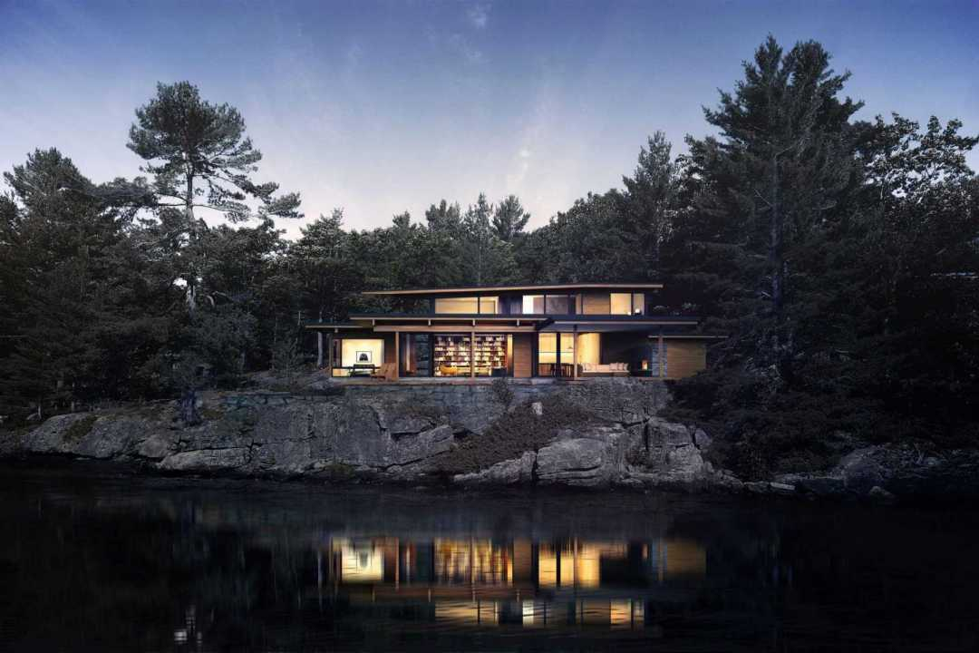 Waterside architectural rendering