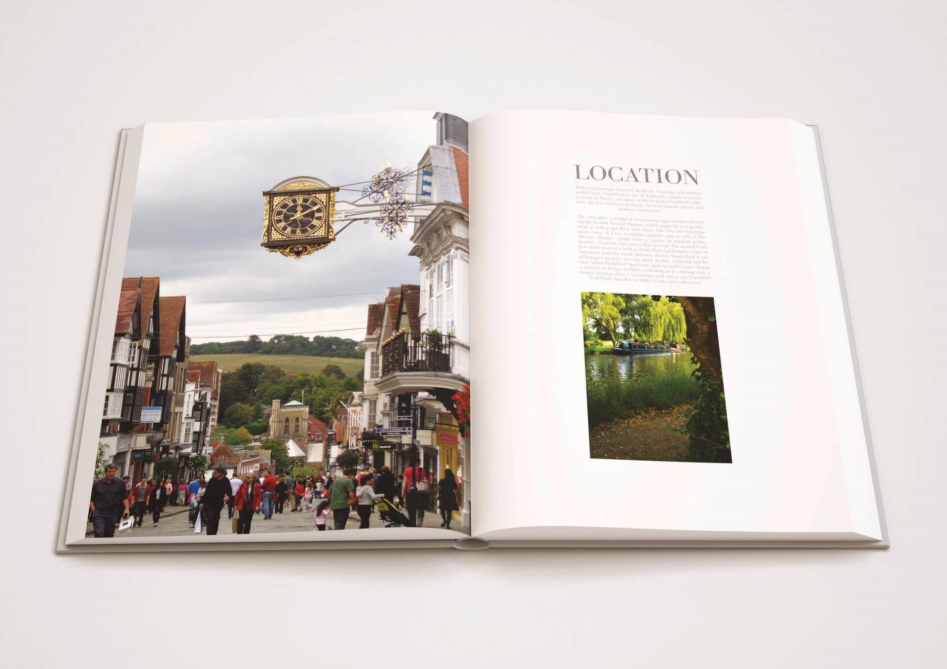 Marketing brochure inside cover for prestigious London residence