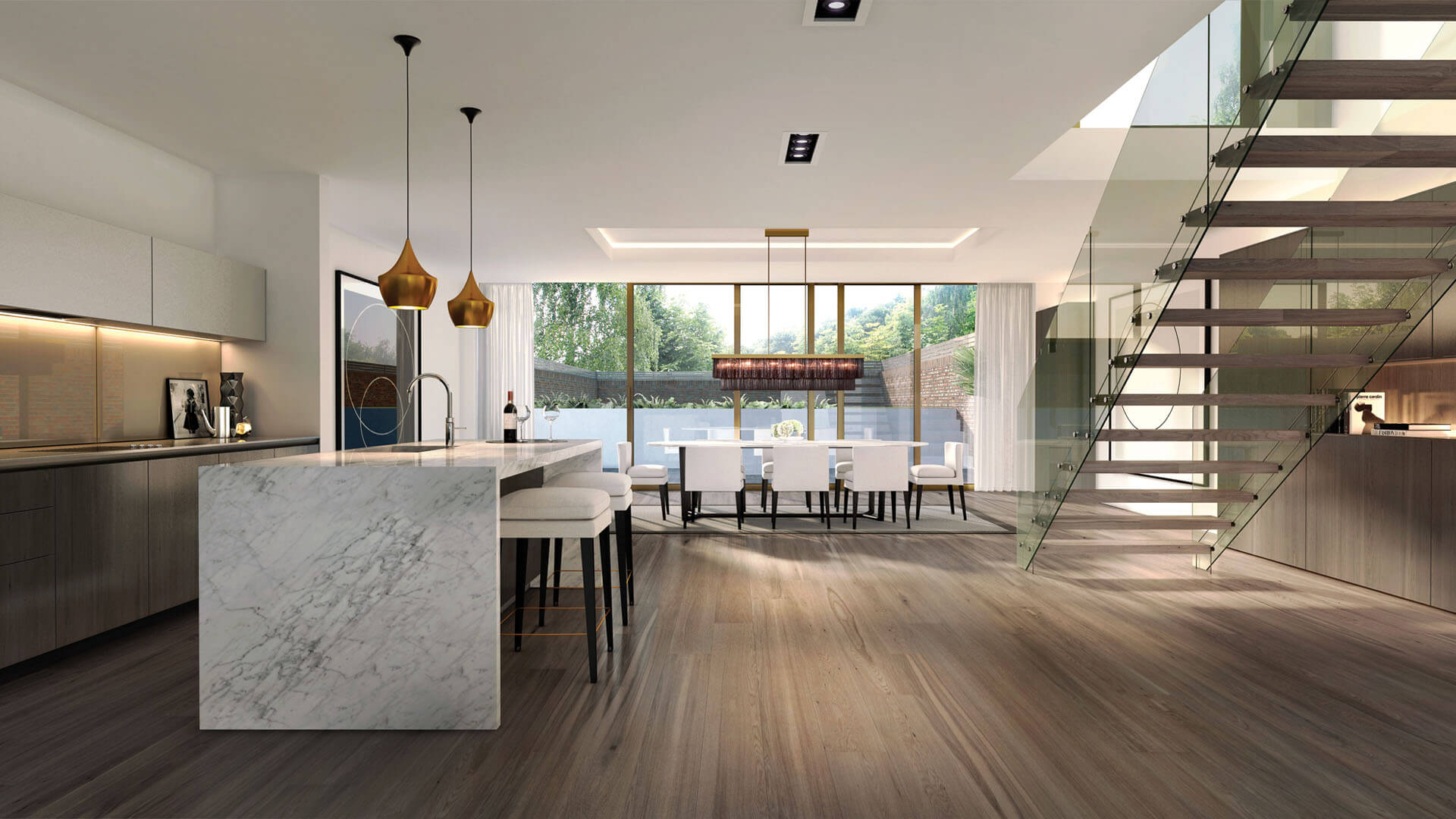 dMFK - Redington Gardens - Kitchen Dining CGI