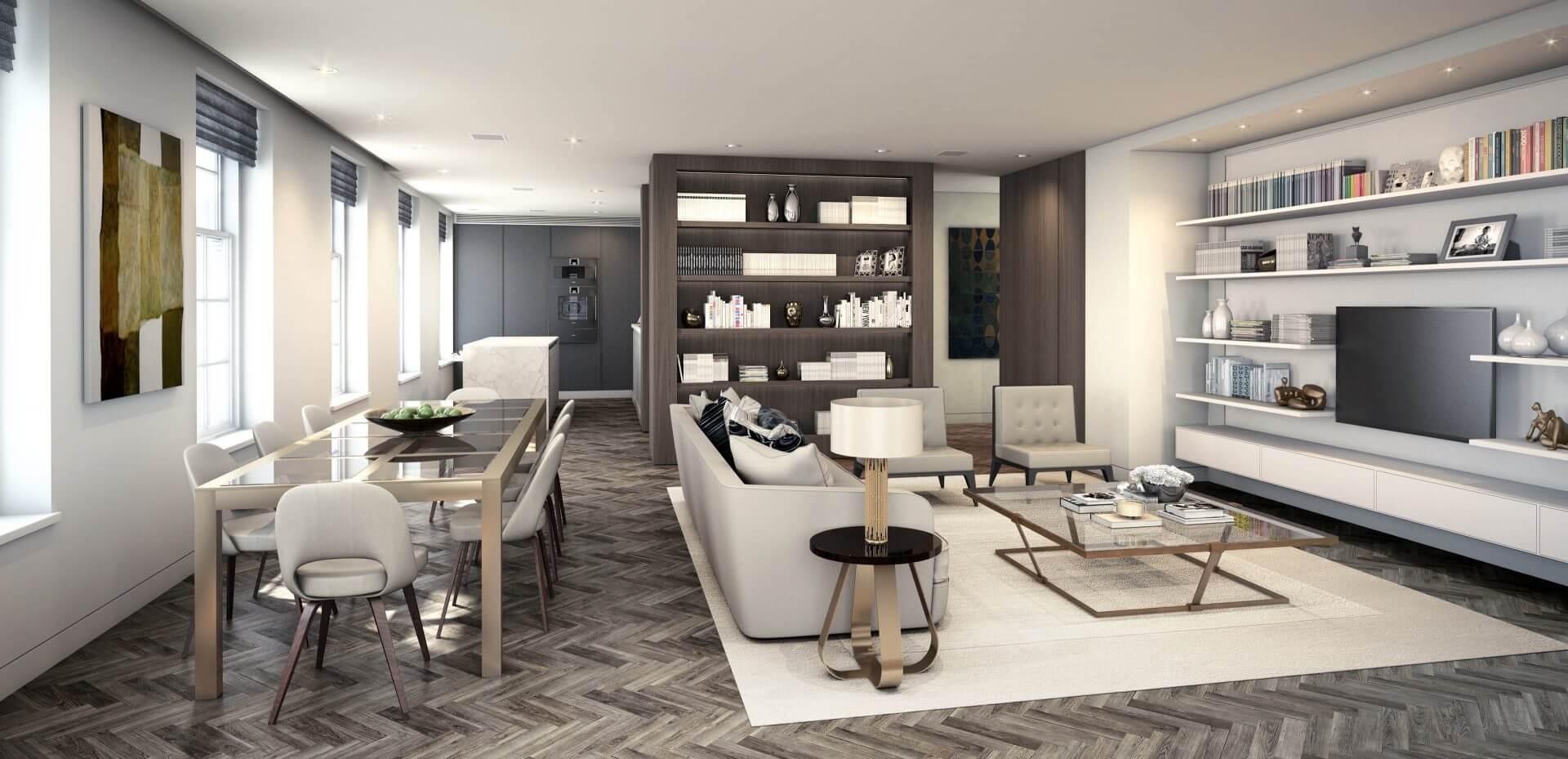 London penthouse visualisation for Devonshire Properties