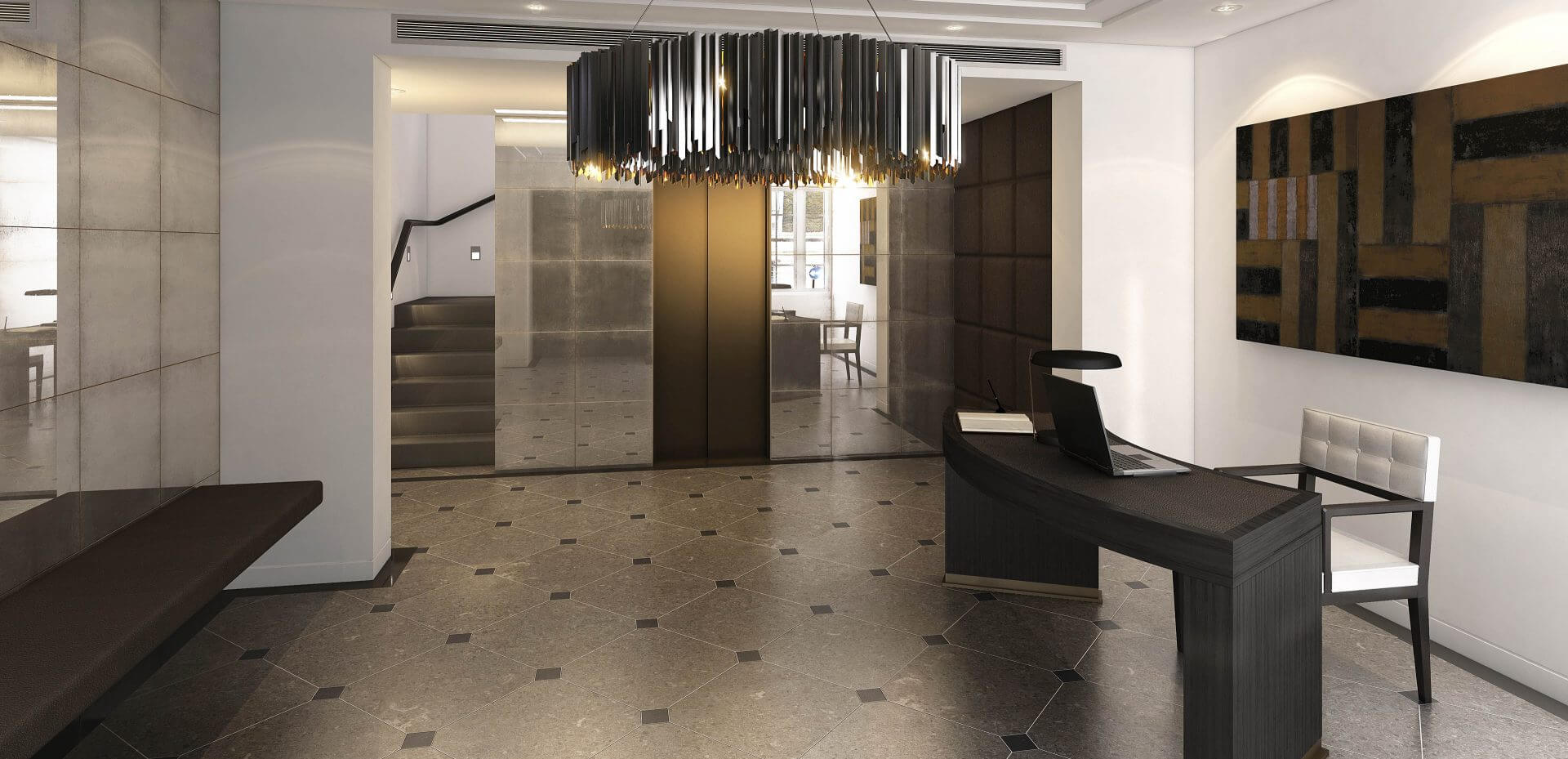 London residential reception visualisation for Devonshire Properties