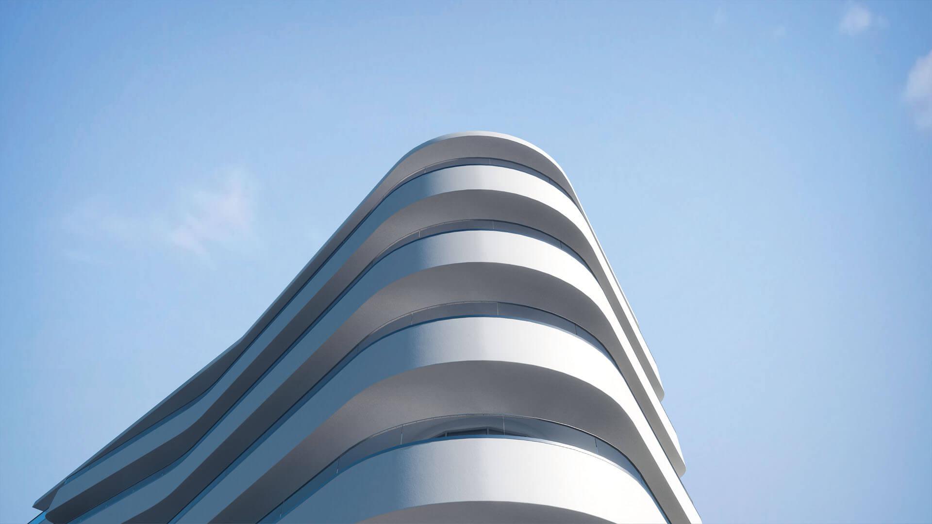 McCarthy&Stone_ParkstoneRd_Horizons_Curved Exterior