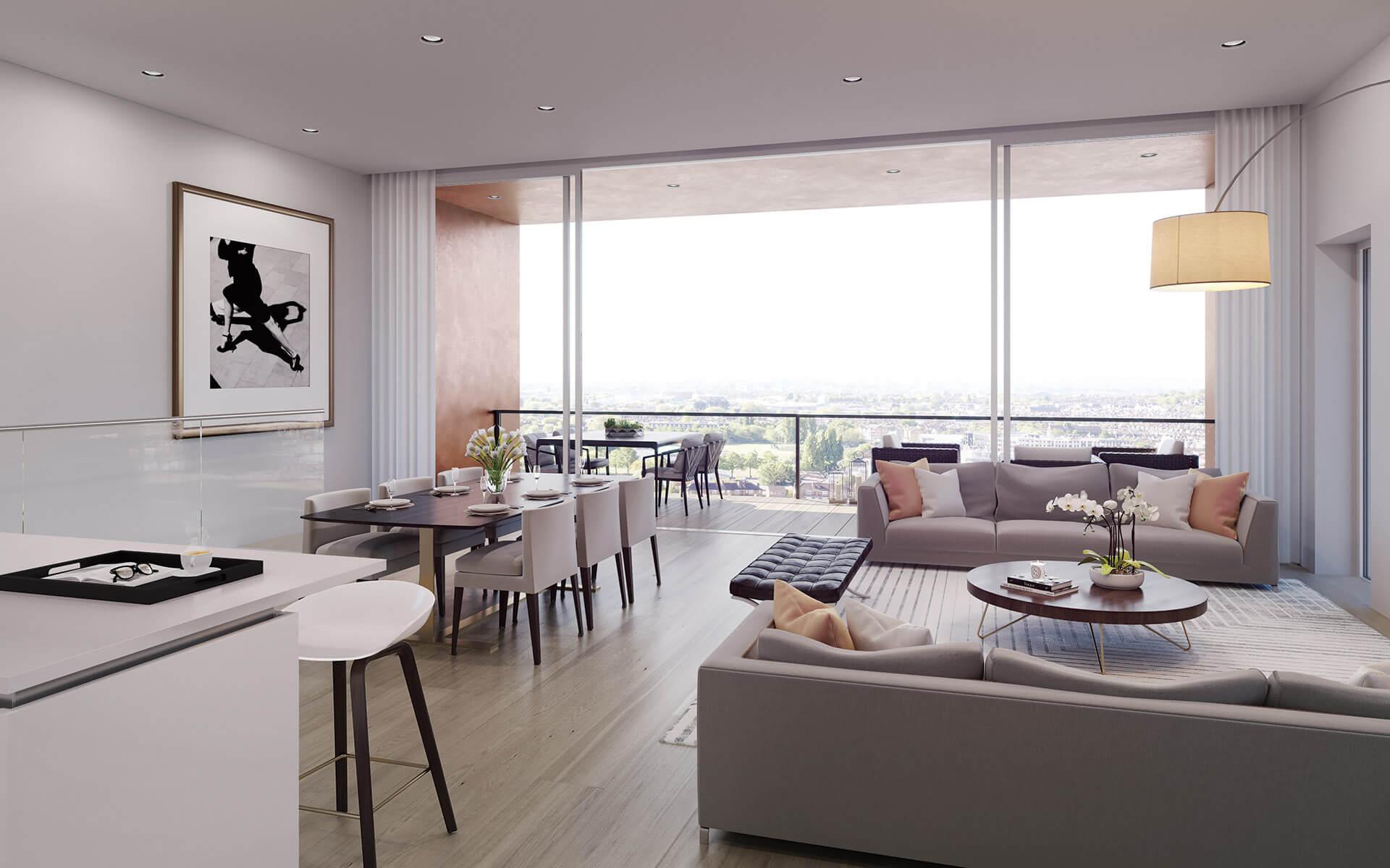 Sanders Studios_AF_Bronze_Penthouse Living Room CGI
