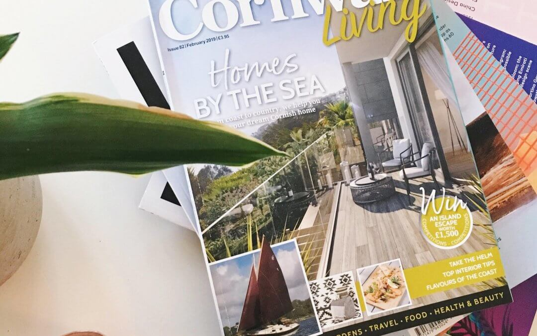Work featured on the front page of Cornwall Living