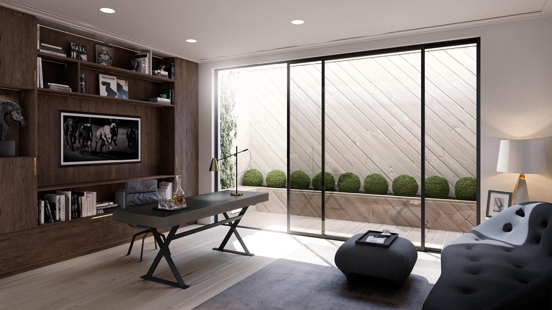 Sanders Studios_Fusion_The Birchwood_Study Room CGI