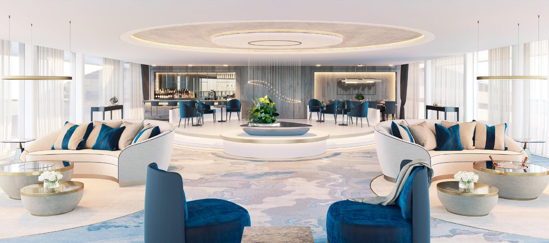 Sanders Studios_Serene Superyacht Visualisation_Interior Saloon CGI