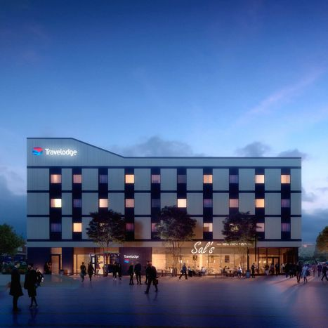 The Spirit of Sittingbourne | Evocative dusk visualisation for U+I's Travelodge proposal